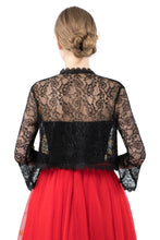 Load image into Gallery viewer, Black Lace Open Cardigan