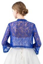 Load image into Gallery viewer, Cobalt Blue Lace Open Cardigan