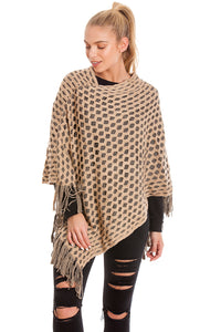 Winter Poncho In Mocha