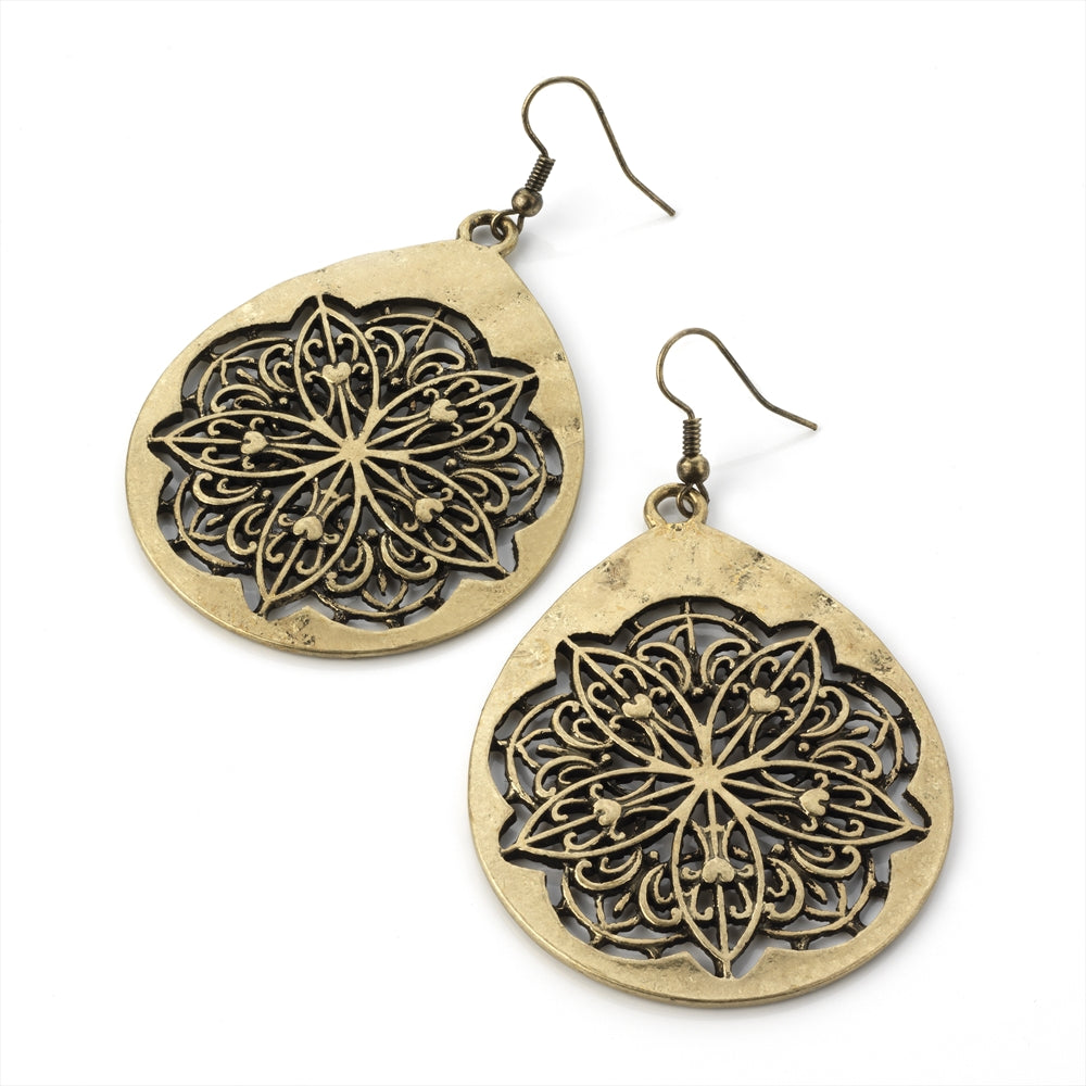 Burnished Gold Effect Earrings