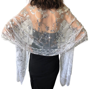 Silver Sequin Shawl