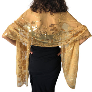 Gold Sequin Shawl