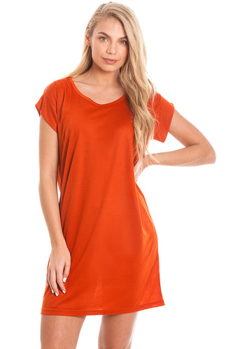 Orange Maternity & Breastfeeding Dress