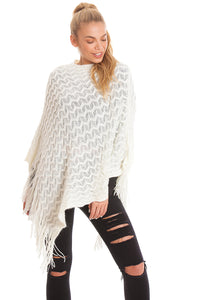 White Sequin Poncho