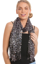 Load image into Gallery viewer, Stunning Evening Sequin Scarves For Party Scarves, Christmas Scarves, New Years Eve Parties