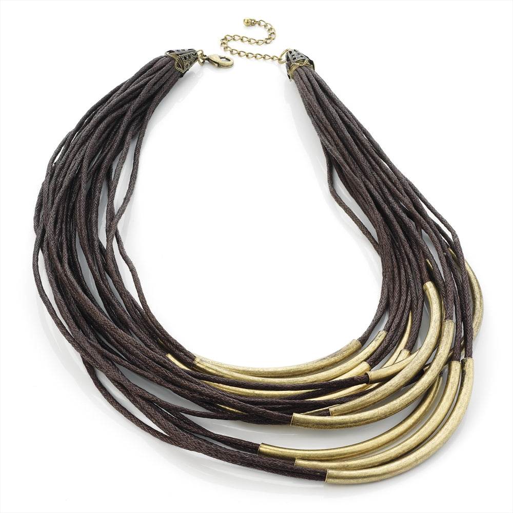 Brown Cord Necklace