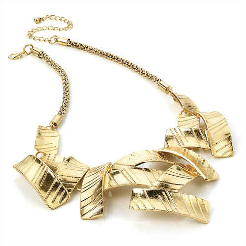 Abstract Gold Effect Necklace