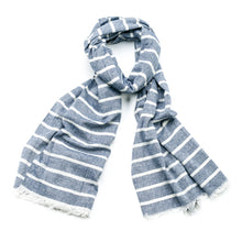 Load image into Gallery viewer, Morgan 100% Cotton Striped Scarf