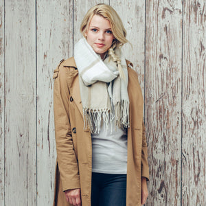 Blanche Neutral Blanket Scarf