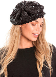 Sequin Berets Hats