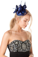Load image into Gallery viewer, Blue Fascinator