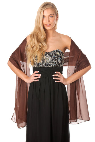 Brown Chiffon Shawl