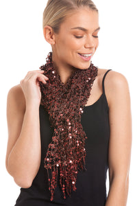 Stunning Evening Sequin Scarves For Party Scarves, Christmas Scarves, New Years Eve Parties