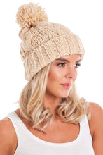 Load image into Gallery viewer, Beige Cable Knit Beanie