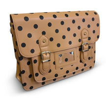 Load image into Gallery viewer, Camel Polka Dot Satchel
