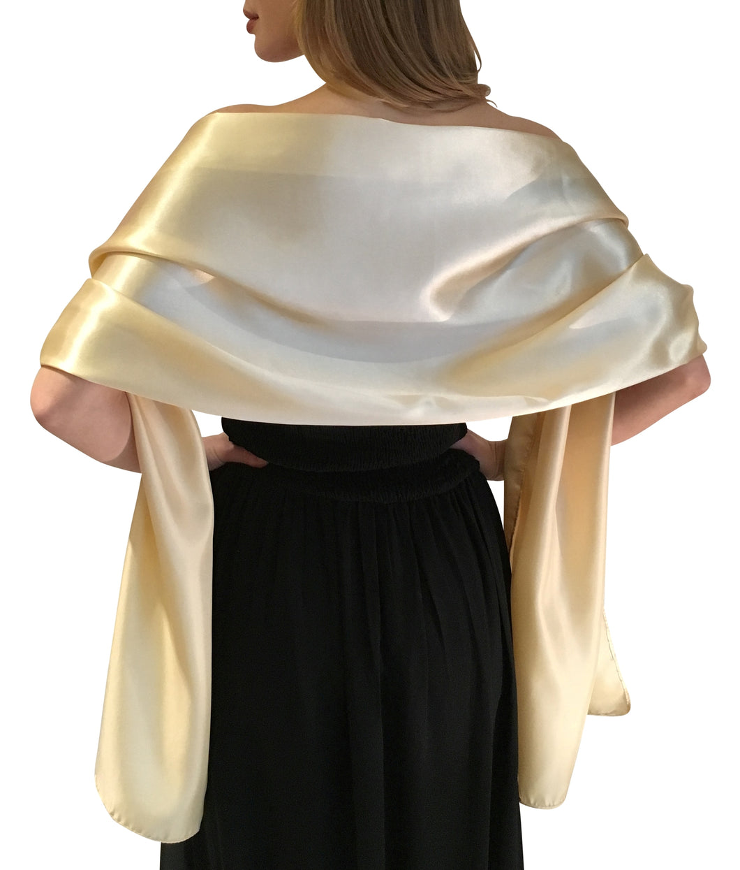 Gold Satin Wedding Wrap