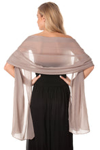 Load image into Gallery viewer, Mocha Grey Chiffon Shawl