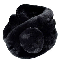 Load image into Gallery viewer, Luxury Vintage Faux Fur Scarf Snood With Bobble