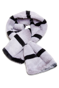 Kids Striped Faux Fur Snood Scarf