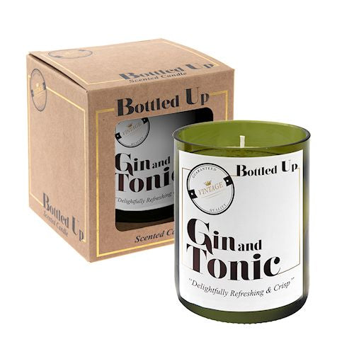 Gin And Tonic Bottle Candle