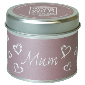 Sentiments Candle in Tin - Mum