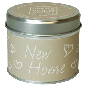 Sentiments Candle in Tin - New Home