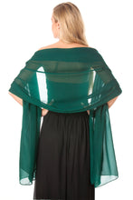Load image into Gallery viewer, Green Chiffon Shawl