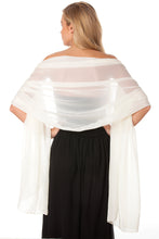 Load image into Gallery viewer, Ivory Chiffon Shawl