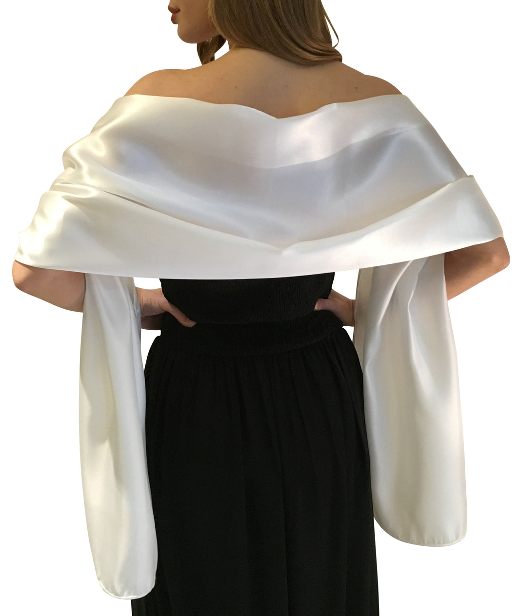 Ivory Satin Wedding Wrap