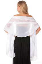 Load image into Gallery viewer, White Chiffon Shawl
