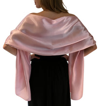Load image into Gallery viewer, Pink Satin Wedding Wrap
