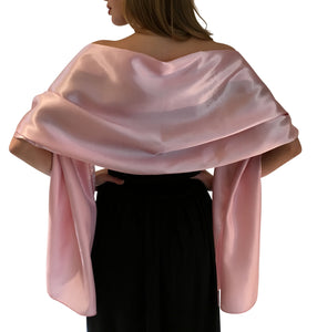 Pink Satin Wedding Wrap