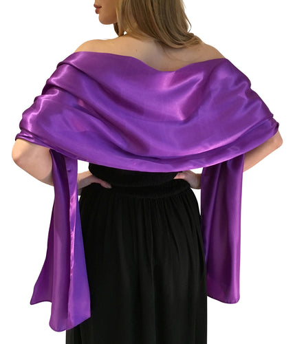 Purple Satin Wedding Wrap
