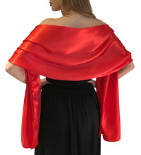 Load image into Gallery viewer, Red Satin Wedding Wrap