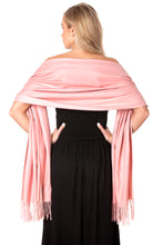 Load image into Gallery viewer, Soft Pink Cashmere Shawl Scarf Wrap