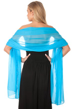 Load image into Gallery viewer, Turquoise Chiffon Shawl