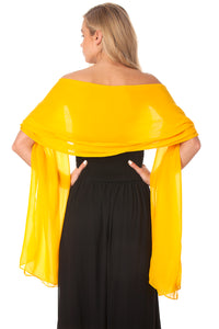 Yellow Gold Chiffon Shawl