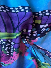 Load image into Gallery viewer, Blue Butterfly Chiffon Sarong