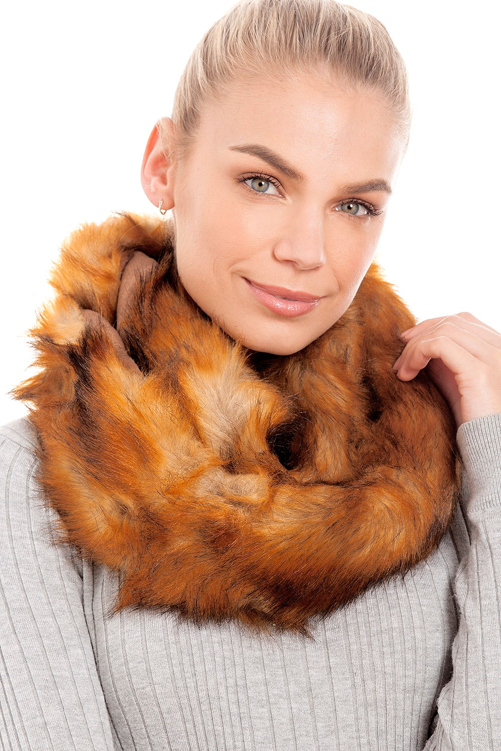 Fox Faux Fur Snood Scarf