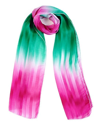 Abstract Chiffon Scarf