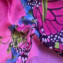 Load image into Gallery viewer, Pink Butterfly Chiffon Sarong
