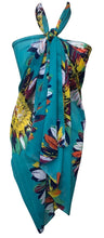Load image into Gallery viewer, Turquoise Floral Chiffon Sarong