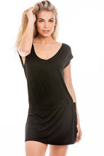 Load image into Gallery viewer, Black Beaded Back Dress S-M
