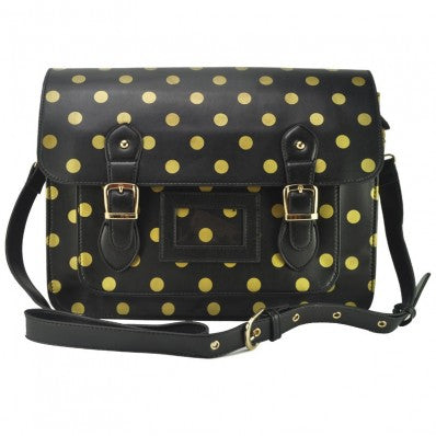 Black Polka Dot Satchel