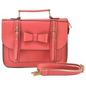 Coral Pink Bow Satchel
