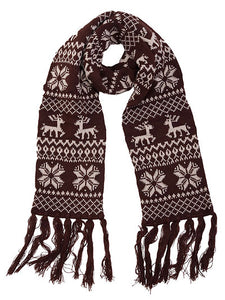 Brown Christmas Scarf