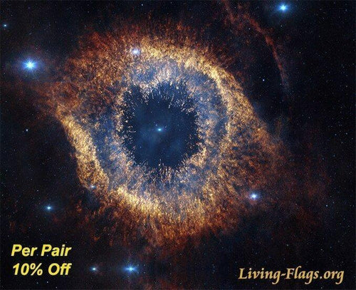 Eye of God - God's Handiwork - Silk Printed Worship Flags - LIVING FLAGS STORE