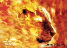 Load image into Gallery viewer, Flaming Passion - Silk Printed Worship Flags - LIVING FLAGS STORE