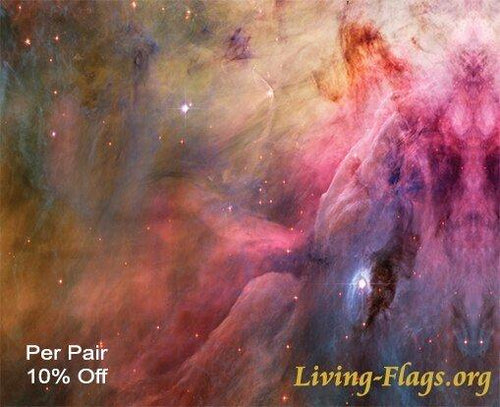 Pink Nubula - God's handiwork - Silk Printed Worship Flags - LIVING FLAGS STORE