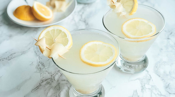 healthy lemon ginger martini